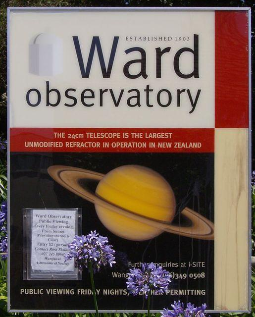 The Ward Observatory sign. (obviously!)