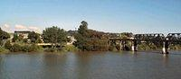 Wanganui East, Whangaui River and railway bridge, taken from the Aramoho side river bank